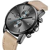 Men's Fashion Sport Quartz Watches with Leather...