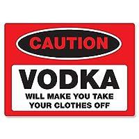Caution Vodka Clothes 金属板ブリキ看板警告サイン注意サイン表示パネル情報サイン金属安全サイン