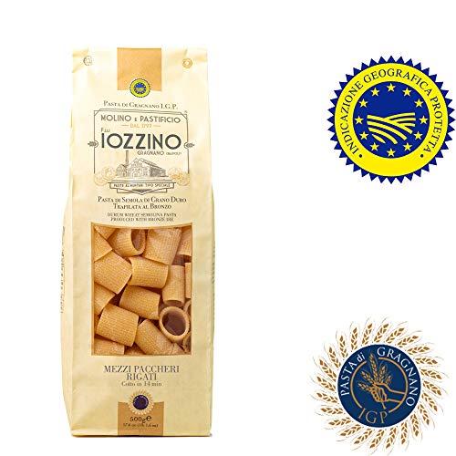 Pastificio F.lli Iozzino Mezzi Paccheri Rigati 3Kg (6x500gr) pasta di Gragnano IGP