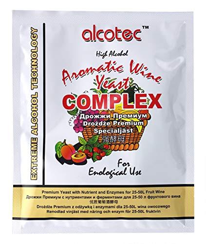 Alcotec Turbohefe - FRUIT COMPLEX, Wodkahefe, Destillieren hefe, Hefe für Fusel, Hefe für Maische, Turbohefe für früchte maische,