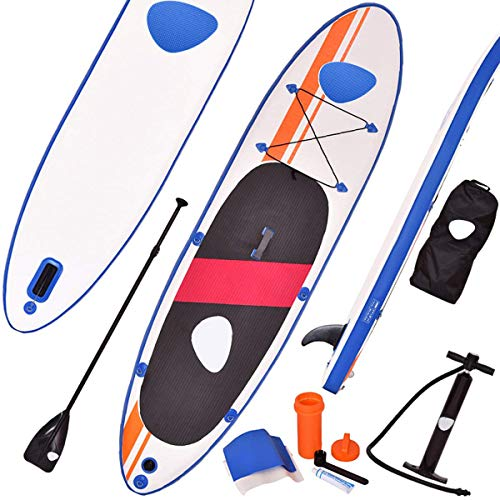 COSTWAY Tabla Hinchable Paddle Surf Sup 330 x 76 x15cm Board Stand Up con Remo de Aluminio Bomba Bolsa de Transporte