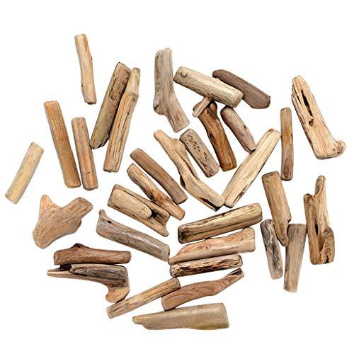 *FLAMEER 50 pcs natürliche Treibholz Holzscheiben Verzierung Holzstücke zum Dekorieren basteln für DIY Handwerk*