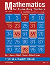 Mathematics for Elementary Teachers: A Contemporary Approach 10e Student Activity Manual