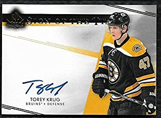 2015-16 SP Authentic Sign of the Times SOTT Autograph Torey Krug 2014-15 Update