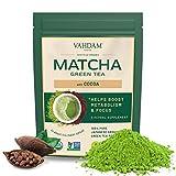 VAHDAM, Té Verde Matcha Cacao | 100 % PURO MATCHA ORGÁNICO JAPONÉS con Rico Cacao | Delicioso Matcha Bajo en Calorías | Apto para Dieta Keto y Vegana | Mejora la Concentración y Alivia el Estrés