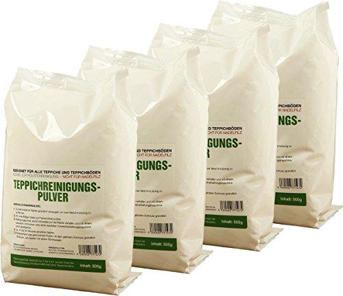 McFilter Teppichreinigungspulver | 4 Packungen â 500g | geeignet für alle Teppiche und Teppichböden, sowie zur Polsterreinigung