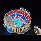 Morton3654Mam Juego de luces LED para Lego Camp NOU Stadion 10284, juego de iluminación LED compatible con bloques de construcción Lego 10284, sin set Lego