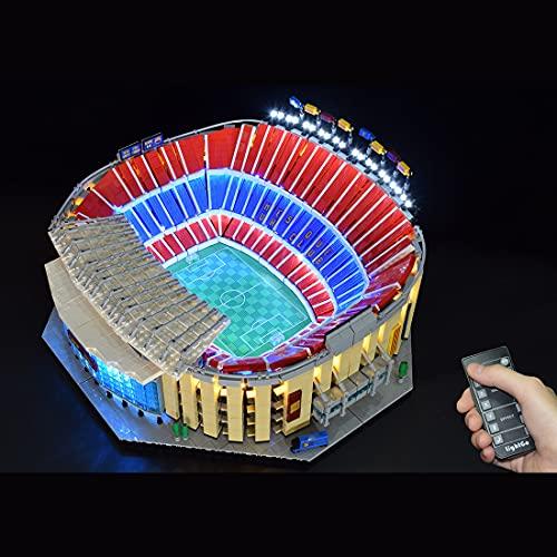 MBKE Juego de luces para LEGO 10284 Creator Camp Nou – FC Barcelona, kit de iluminación LED remoto compatible con LEGO 10284