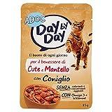 Adoc Day By Day - Alimento Completo per Gatti Adulti con Coniglio, 24 bustine da 85gr