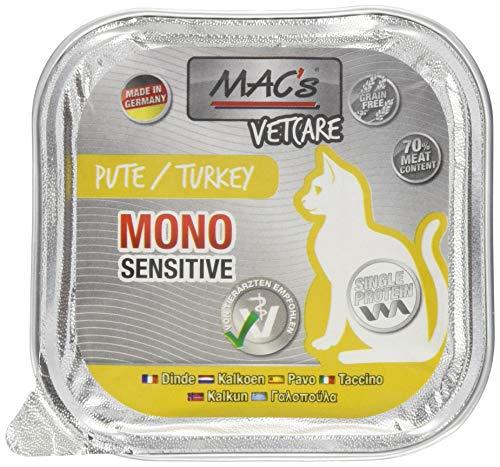 Mac's kattenvoer vrij van Vetcare Mono Pute, 100 g
