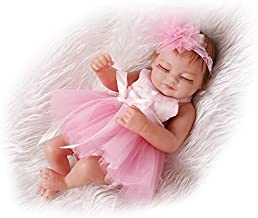 Pinky Reborn Muñecas 10 Pulgadas 28cm Reborn Baby Doll Soft Simulatable Mini Baby Girl Doll Realista Lovely Bebe Reborn Dolls Juguetes para niños pequeños (Pink)