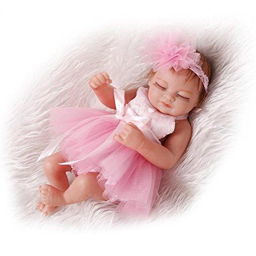 iCradle Reborn Baby Doll - Muñeca de bebé realista, 10 pulgadas, cuerpo completo, realista, de silicona, para recién nacidos, para niños, alfombra de juego, regalo, muñeca de cuerpo entero