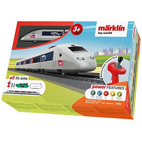 Märklin 29306 my world ‐ Startpackung TGV, Modelleisenbahn für Kinder ab 3 Jahre, Licht-und Soundeffekte, 5-teiliger Zug, batteriebetrieben, Spur H0