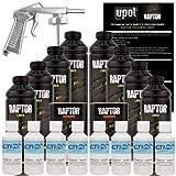 Raptor U-POL GM White Urethane Spray-On Truck Bed Liner & Texture Coating W/Free Spray Gun, 8 Liters
