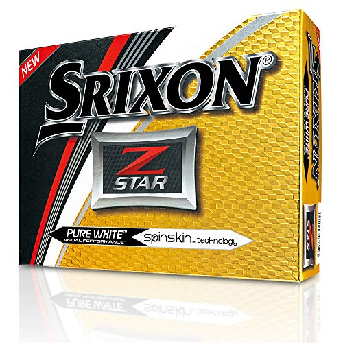 Srixon Z-Star 2017 Golf Balls, White (One Dozen)