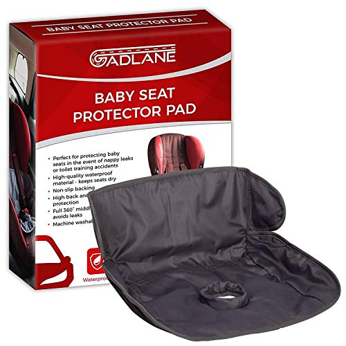 GADLANE Baby & Toddler Car Seat Protector Waterproof Potty Training Pad With Non-slip Backing For Protection From Leaky Nappies Accidents And Food & Drink Spills - Fits All Carseats & Buggies