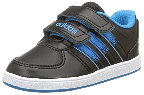 adidas Hoops VS CMF INF Schuhe für Kinder, Unisex–Kinder, Core Black/Solar Blue2 S14/Ftwr White - Größe: 22 EU