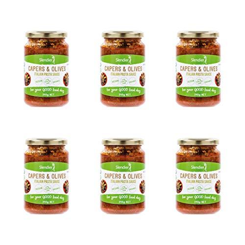6x Slendier Sugo italiano bio di capperi e olive