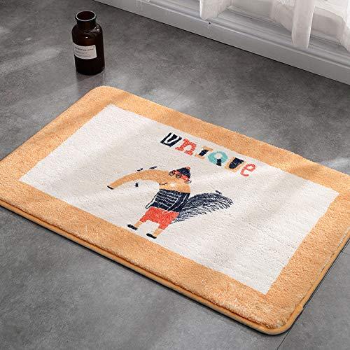 LJQLXJ Felpudo Alfombrilla para el piso Alfombra de dibujos animados Impresoplástico antideslizante Punto de nuevo...