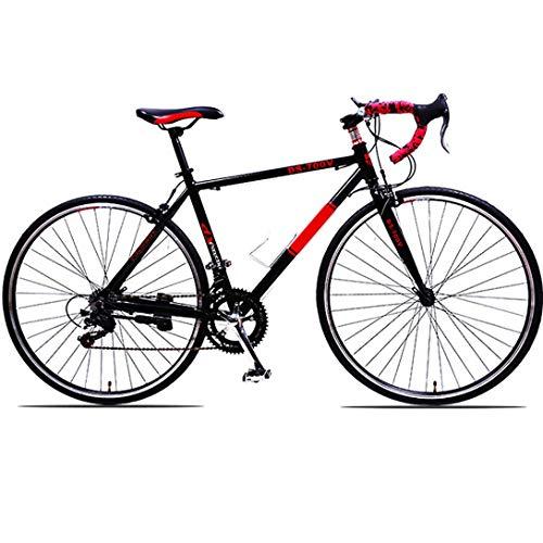 WRJY Bicicleta de montaña con amortiguación para Adultos Velocidad Variable u200b u200b Bicicleta de aleación de Aluminio Manillar Bicicleta de Carretera, 21 velocidades