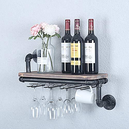 Weven Rustikale Wand-Weinregale für neues Zuhause, Likörflaschen, Aufbewahrungshalter für Einweihungsgeschenkideen, Heimdekoration, schwebendes Regal, Bildschirmwandregal