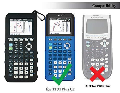 Silicone Case for Ti 84 Plus CE Calculator (Black) - Cover for Texas Instruments Ti-84 Graphing Calculator - Silicon Skin for Ti84 Plus - Protective & Anti-Scretch Cases - Ti 84 Accessories by Sully Photo #3