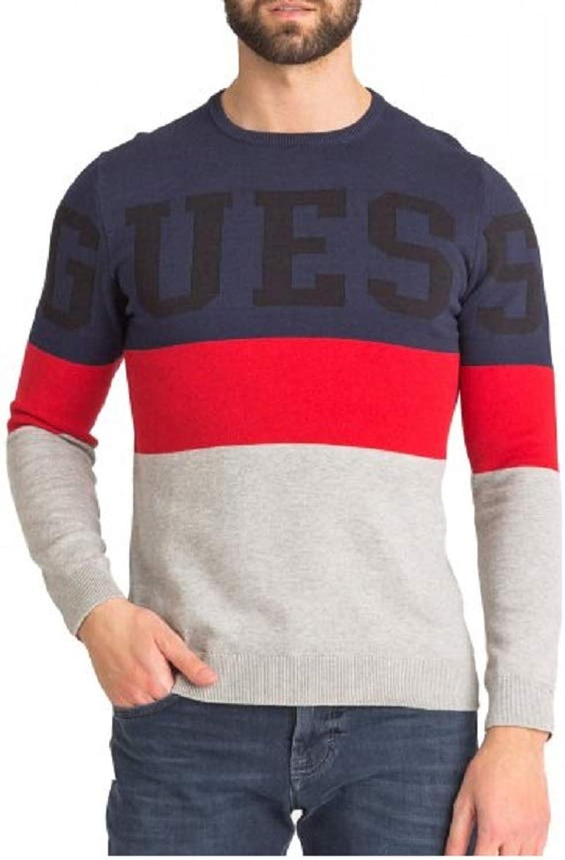 Guess Intrasi Navy Colour Block Sweater