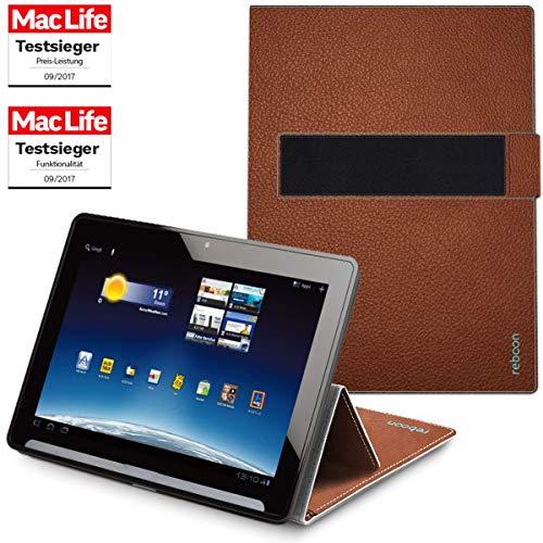 Hülle für Medion Lifetab X10302 Tasche Cover Case Bumper | Testsieger | Braun Leder