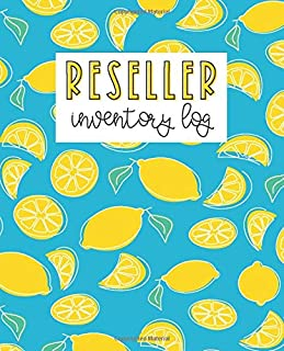 Reseller Inventory Log: Product Listing Notebook For Online Clothing Sellers, Lemons