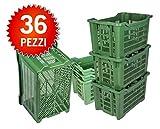 ICS Plastica 36 Cassette agricole impilabili aperte per olive