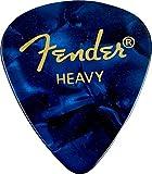 Fender 351 Shape Premium Picks (12 Pack) for electric guitar, acoustic guitar, mandolin, and bass, 351 - Heavy, Blue (Moto)