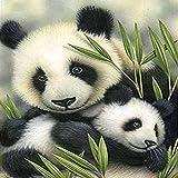 LSDAMN 5D Diamond Painting Set Panda Diamante Dibujo DIY Bordado Pintura Punto de Cruz Diamante Decoración 40X50CM