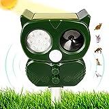 Repellente per Gatti, Ultrasuoni Piccioni,Repellente Solare Ultrasuoni per Talpe 1500 mAh Repellente...