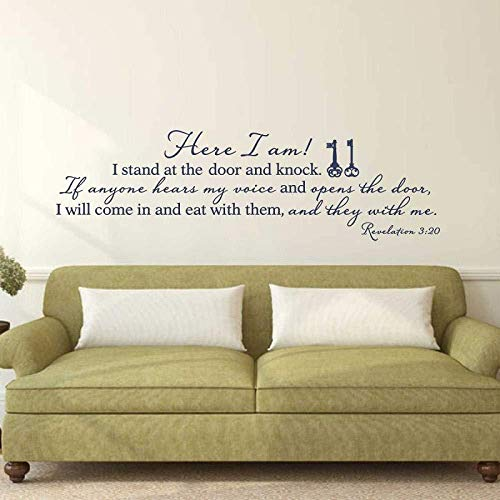 pegatinas de pared apocalipsis 3:20 Versículos De La Biblia Español