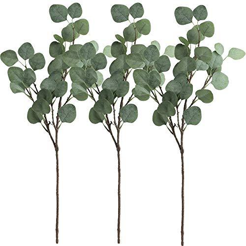 Gshy - 3 Ramas de eucalipto Artificiales para Fiestas, Bodas, decoración del...