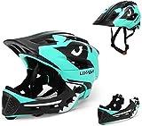 BMX Casco Infantil Integral para Ciclismo Enduro. Totalmente Ajustable con Mentoner Desmontable. Tamaño Ajustable Entre...