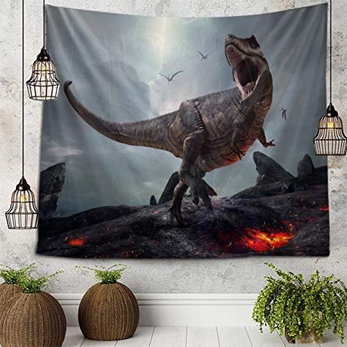 N/A Tapiz de Dormitorio Pintura 3D Dinosaurio Jurassic Park Tapiz Colgante de Pared Colcha de Cama Toalla de Playa Mantel Estera de Yoga de Gran tamaño