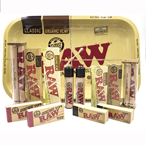 Bundle - 13 Items - RAW Rolling Paper R.y.o (Roll Your Own) Cigarette Kit