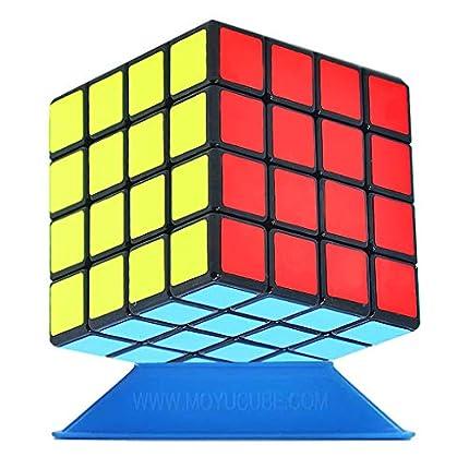 TOYESS Cubo Mágico ,Speed Cube 4x4x4 Rompecabezas Cubo de Velocidad Regalo de Adulto para Niños,Negro