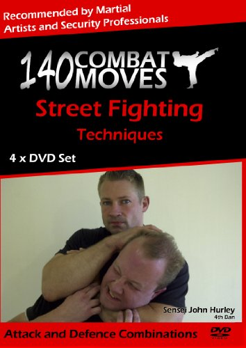 140 Combat Moves, 4 x DVD Self Defence Home Study Course (NTSC)