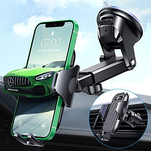 VANMASS Handyhalterung Auto 3 in 1 PRO+ Bombenfest Saugnapf & Lüftung Handyhalter Für Auto 360° Flexibel Drehbar Universal Kfz Handyhalterung Auto Zubehör Für Alle Handy iPhone Samsung Huawei Xiaomi
