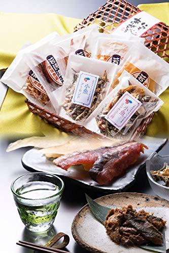 おつまみ 7種 竹かご のどぐろ 珍味 おつまみセット 小袋 人気 詰め合わせ 【通常便】 えいひれ スルメ 海鮮 手土産 プレゼント ギフト 越前宝や