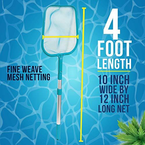 U.S. Pool Supply Economy Pool Leaf Skimmer Net with Adjustable 4 Foot Telescopic Pole