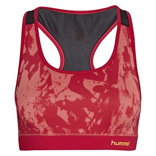 Hummel Damen Sport BH Evie Sports Bra 09672 Vitual Pink S