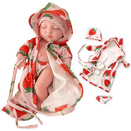 QueenHome Muñecas de bebé para niñas, disfrazarse y cambiarse de maquillaje, 30 cm, juguete de muñeca para niños, para niñas
