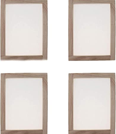4 Pack Wooden Paper Making Screen Papermaking Mould Deckle Printing Frame for DIY Paper Craft Tool Dried Flower Handcraft 18x15cm//7.1x5.9inch