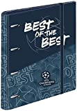 Sportandem Carpeblock 4 Anillas Champions The Best, A4 Escolar con Goma, Carpeta Clasificadora Anillas Juvenil con Tapa Dura de Cartón Medidas 27,5 x 32 x 5 cm, C2