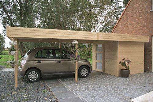 Carport Datura S8389-120 x 120 mm Pfostenstärke, Grundfläche: 4,83 m², Flachdach