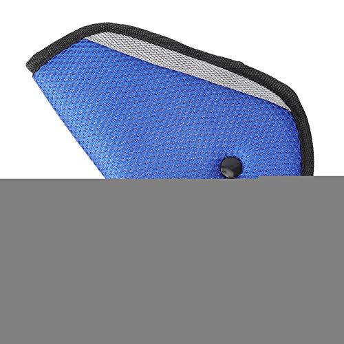 Almohadilla de ajuste de cinturón de seguridad 3PCS para automóvil, cubierta triangular de malla de seguridad, accesorio de cinturón de seguridad para niños bebés(azul)