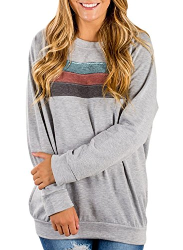 Dokotoo Womens Plus Size Cozy Fashion Cute Ladies Casual Long Full Sleeve Solid Sport Tunics Sweatshirt Pullover Blouses Tops Juniors Grey XX-Large